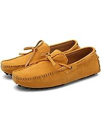 Kalra Creations - Mocasines para hombre, color Amarillo, talla 43 EU