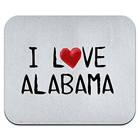 I Love Alabama Written on Paper Mouse Pad