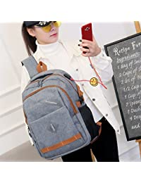 47e15b501d056 FONKIC Unisex Laptop Rucksack Wasserdichte Reise lässig Schultertasche  College Schultasche