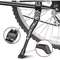 """EKKONG Pata de Cabra de Bicicletas, Aluminio Aleación Ajustable Bicicleta Kickstands Bicicleta Caballete Lateral con pie de Goma Antideslizante para Bicicletas 24""""- 29"""""""