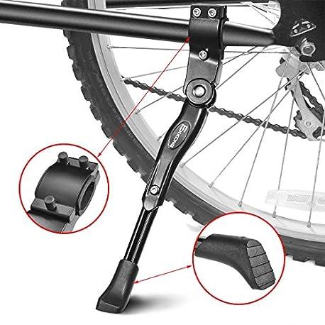 EKKONG Pata de Cabra de Bicicletas Aluminio Aleaci n Ajustable Bicicleta Kickstands Bicicleta Caballete Lateral con pie de Gom