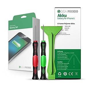 GIGA Fixxoo iPhone 4, 4s, 5, 5c, 5s, SE, 6, 6 Plus, 6s, 6s Plus Akku im Komplettset