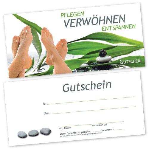50 Fußpflege - Gutscheinkarten FUß RELAX Gutscheine Geschenkgutscheine