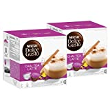 Nescafé Dolce Gusto Chai Tea Latte, Tee, Teekapsel, 2er Pack, 2 x 16 Kapseln (16 Portionen)