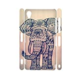 Sconosciuto Generic Guy Have Colorful Elephant Drawing 3 for Z3 Xperia Sony Creative Phone Cases Rigid Plastic