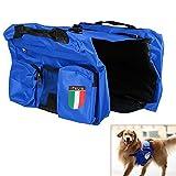 sijueam Wasserdicht Weiches Hundegeschirr Pet Sattel bag Hunde Rucksack reisen camping Steppweste Tasche Pack für Lebensmittel behandeln Aufbewahrung, UV-Schutz Pet Outdoor Sport Rucksack Tasche, 3Farben Blau blau