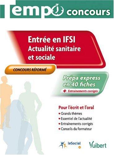 Entrée en IFSI : actualité sanitaire et sociale, collection Tempo concours