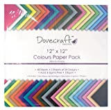 Dovecraft Essentials – Cartoncini e carta, Value 12x12 Paper Pack