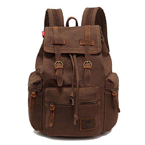 Imagen de koolehaoda vintage canvas bolsos/  viajes senderismo camping  senderismo bolsa de viaje laptop  bolso  escolar para outdoor sports tiempo libre, café
