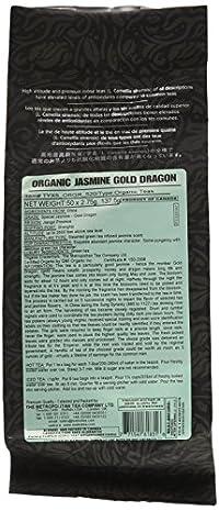 Metropolitan Tea 50 Count Pyramid Shaped Teabags, Jasmine Gold Dragon
