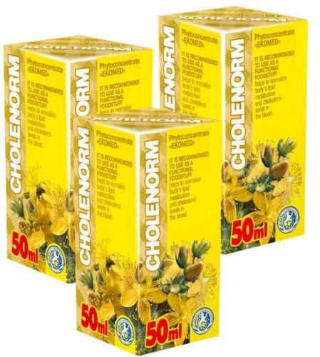 Cholenorm Phyto Konzentrat - Pack von 3 - 21 Tage Kurs - Natürliche Pflanzenextrakte Komplex - Effektive Komplex natürlicher Pflanzenextrakte - Cholesterinkontrolle - Blutzuckerkontrolle - Tages-therapie-kombination-pack