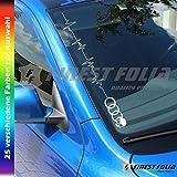 F20 Skull Herzschlag Frontscheibenaufkleber von FINEST-FOLIA Audi A1 A3 S3 B6 B5 Aufkleber A4 S4 B8