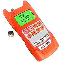 2en 1probador de cable óptico medidor de potencia de fibra óptica Cable Tester -70, risepro a + 10dBm 30mW 30km localizador Visual de fallos con gran pantalla LCD retroiluminación aua12-o