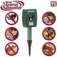 zonar Animal Repeller®–Animale Scaccia con pannello solare–Luce del flash–Ultrasuoni–Altoparlante–Original AUS Dem pubblicità TV.
