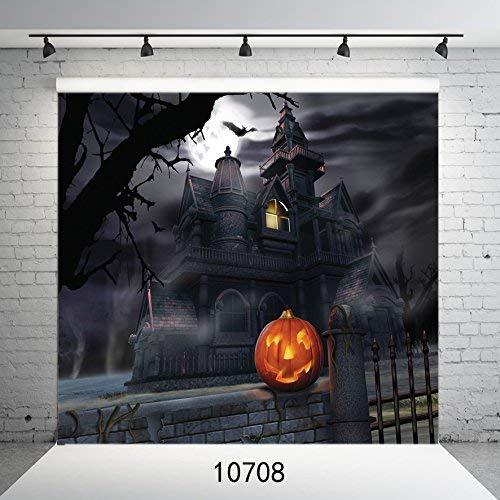 10708 Fotohintergrund für Halloween, Horror Night Dark Castle