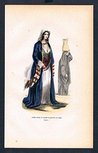 Grafik Egypt Ägypten costumes Trachten antique ()