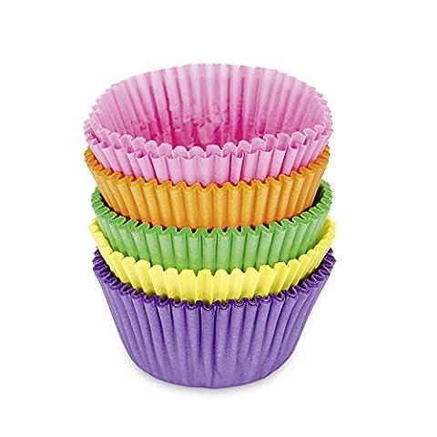 Papierbackförmchen mini für Minimuffins, 100 Stück, bunt