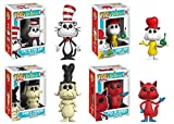 Funko POP! Dr. Seuss: Cat In The Hat + Sam I Am + Sam's Friend + Fox In Socks - Vinyl Figure Set NEW