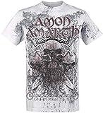 Photo de Amon Amarth Beardskulls T-Shirt Manches Courtes Gris Clair par Amon Amarth