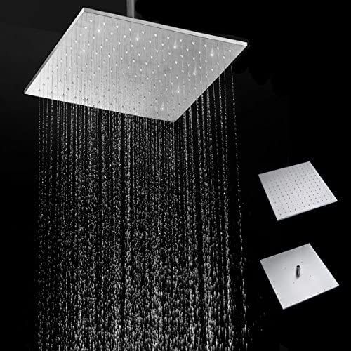 Bureze 40,6 cm 250 Doccia mm in Acciaio Inox 304 Doccia 250 a Pioggia Quadrato Ultra Sottile Pioggia soffione Doccia 207f4c