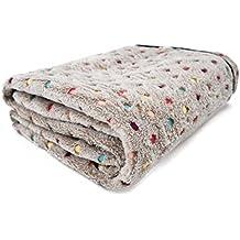 PAWZ Road Mascota para perros manta de cama cubierta de tela de vellón suave y lindo ( Color : Grey , Size : L )
