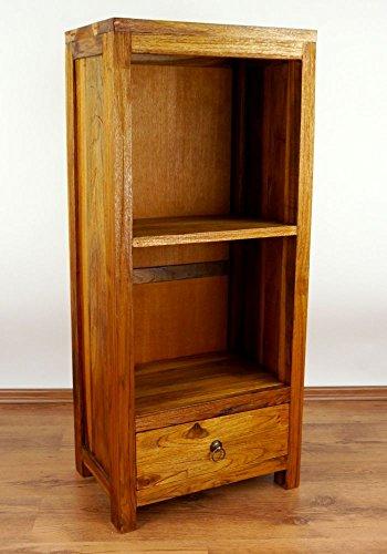 Asia Wohnstudio Java Hochschrank | Hochregal aus recyceltem Bootsholz | Asiatisches Standregal | Designer Möbel aus Bootsholz | Kommode der Marke Massivholzregal (Asiatisches Bücherregal)