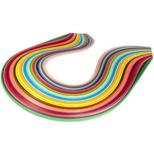 Quilling-Papierstreifen, 3 mm Breite, 50 cm Länge, 36-farbiges Sortiment -
