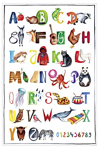 Das ABC Premium Poster für Kinder, Alphabet Lern-Kunst-Plakat - 61 x 91,5 cm, UV-Lack Beschichtung - Close Up®