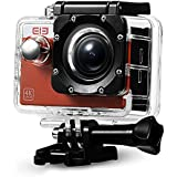 Original Elephone ELE CAM Explorer Action Camera WiFi 4K Sony Sensor 16MP 1080p/60fps Impermeable 30M Accesorios Múltiples Naranja