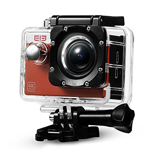 Elephone Action Camera WiFi 4K Sony 16MP 1080p/60fps Waterproof 30M Kit Accessori-Arancione