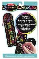 Idea Regalo - Melissa & Doug 15906 -  Confezione di Scratch Art: Segnalibri