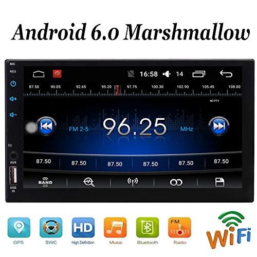 EINCAR Doppel Din im Schlag Head Unit Quad-Core-Android 6.0-System Autoradio mit 7-Zoll-5-Punkt-Touch Screen GPS-Navigations-Radio-Audio-Player-Unterstützung HD Video WiFi Mirrorlink Lenkrad-Steu - Autoradio-touch Android Screen