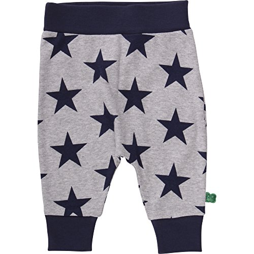 Fred'S World By Green Cotton Star Funky Pants, Pantalon Bébé garçon, Gris (Pale Greymarl 207670000), 62 cm