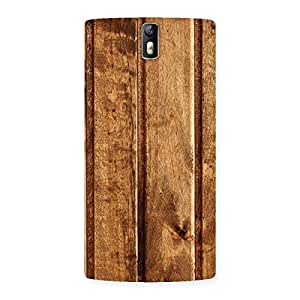 Stylish Wood Texture Back Case Cover for One Plus One