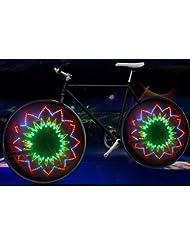 Ool Dazzle Caballero bicicleta Hot Wheels 16Flash Led Bicicleta Rueda decoración luz...