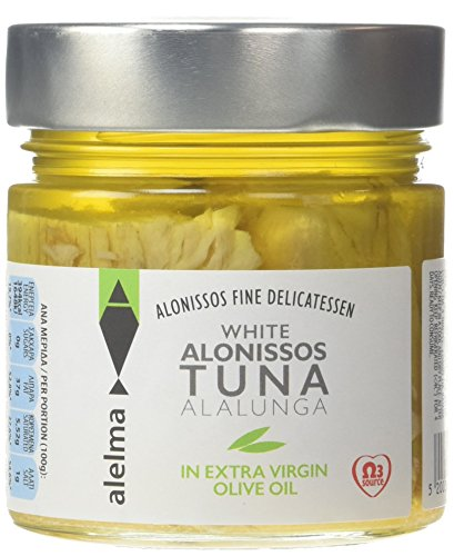 Alelma White Alonissos Tuna in Extra Virgin Olive Oil, 212 g