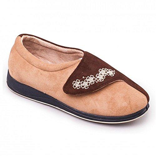 Donna Camel Beige Padders Pantofole marrone E5qt5vwx