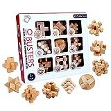 LoKauf 9Pcs Rompecabezas de Madera Puzzles 3D Juego IQ Juegos de Ingenio Calendario de Adviento para Adultos Niños