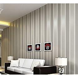 ufengke Color Puro No Tejido 3D Rayas Verticales Papel Pintado Mural Para Dormitorio Sala de Estar
