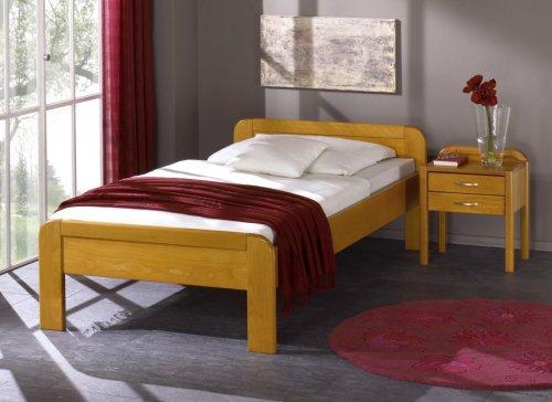 shogazi  Schlafkultur Seniorenbett KÖLN – Harmonisches Designerbett – Buche massiv auf Eiche gebeizt