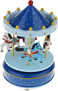Jorzer Kreative Holz Karussell Spieluhr Romantisches Dreh Spieluhr F/ür Geburtstag Valentinstag Weihnachten Geschenk Der Kinder Red