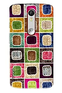 Omnam Square Pattern Made Of Cloth Printed Designer Back Cover Case For Motorola Moto X Force