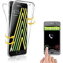 Coque pour Samsung Galaxy A3 (2016) , Coque 360 Degres Protection Integral Anti Choc , Etui AVANT Et ARRIERE , Transparent -E.F.Connection®