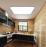SAILUN 24W Kaltweiß Ultraslim LED Deckenleuchte Modern Deckenlampe Flur Wohnzimmer Lampe Schlafzimmer Küche Energie Sparen Licht Wandleuchte Farbe Silber