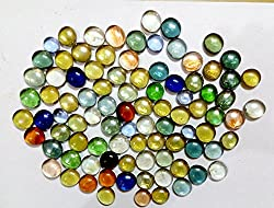 RM Multicolor Decorative Glass Pebbles (pack contains 80 pebbles) colorful vase fillers for home decoration