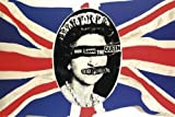 1art1® Posters - 91 x 61 cm - Sex Pistols God Save the Queen with Union Jack Background Without Frame