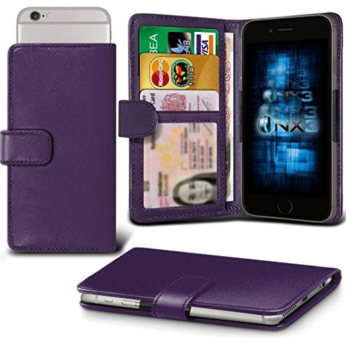 (Dark Purple) Oppo R7 lite Hülle Abdeckung Cover Case schutzhülle Tasche Verstellbarer Feder Mappe Identifikation-Kartenhalter-Kasten-Abdeckung ONX3