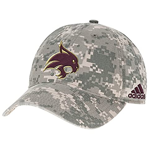 NCAA Texas State Bobcats Men's Digital Camo Adjustable Slouch Cap, One Size, Gray