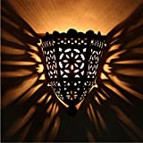 Orientalische Marokkanische handgefertigte Eisen Wandstrahler prachtvolle Eisenlampe für tolle Lichteffekte wie aus 1001 Nacht