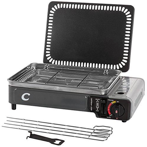 Vtk - kit supercook duo da campeggio, grill e piastra portatile a gas, da 2.200w